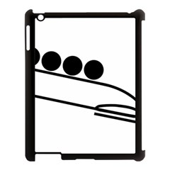 Bobsleigh Pictogram Apple Ipad 3/4 Case (black) by abbeyz71