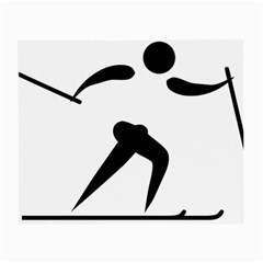 Cross Country Skiing Pictogram Small Glasses Cloth (2 Side) by abbeyz71