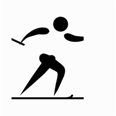 Cross Country Skiing Pictogram Small Garden Flag (two Sides) by abbeyz71