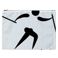 Cross Country Skiing Pictogram Cosmetic Bag (xxl)  by abbeyz71