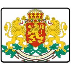Coat Of Arms Of Bulgaria Double Sided Fleece Blanket (medium)  by abbeyz71