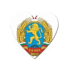 Coat Of Arms Of Bulgaria (1948 1968) Heart Magnet by abbeyz71