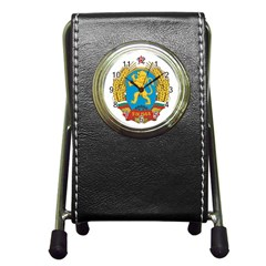Coat Of Arms Of Bulgaria (1948 1968) Pen Holder Desk Clocks by abbeyz71