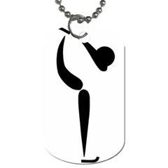 Figure Skating Pictogram Dog Tag (two Sides) by abbeyz71