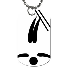 Freestyle Skiing Pictogram Dog Tag (two Sides) by abbeyz71