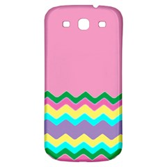 Easter Chevron Pattern Stripes Samsung Galaxy S3 S Iii Classic Hardshell Back Case by Nexatart