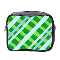 Fabric Cotton Geometric Diagonal Mini Toiletries Bag 2 Side by Nexatart