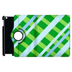 Fabric Cotton Geometric Diagonal Apple iPad 2 Flip 360 Case by Nexatart