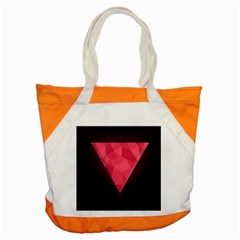 Geometric Triangle Pink Accent Tote Bag by Nexatart