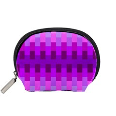 Geometric Cubes Pink Purple Blue Accessory Pouches (small)  by Nexatart