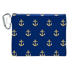 Gold Anchors Background Canvas Cosmetic Bag (xxl) by Nexatart