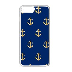 Gold Anchors Background Apple Iphone 7 Plus White Seamless Case by Nexatart