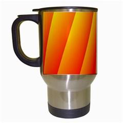 Graphics Gradient Orange Red Travel Mugs (white) by Nexatart