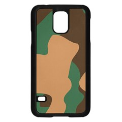 Military Camouflage Samsung Galaxy S5 Case (black) by Nexatart