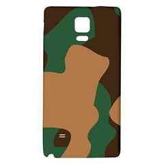 Military Camouflage Galaxy Note 4 Back Case by Nexatart