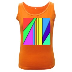 More Color Abstract Pattern Women s Dark Tank Top by Nexatart