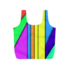 More Color Abstract Pattern Full Print Recycle Bags (S)  by Nexatart