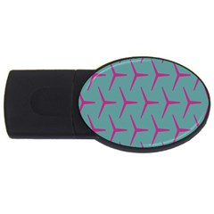 Pattern Background Structure Pink Usb Flash Drive Oval (4 Gb) by Nexatart