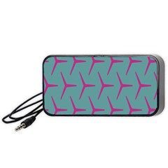 Pattern Background Structure Pink Portable Speaker (Black) by Nexatart