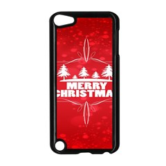 Red Bokeh Christmas Background Apple Ipod Touch 5 Case (black) by Nexatart