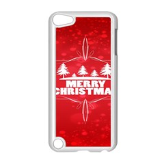 Red Bokeh Christmas Background Apple Ipod Touch 5 Case (white) by Nexatart