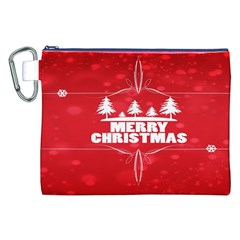 Red Bokeh Christmas Background Canvas Cosmetic Bag (xxl) by Nexatart