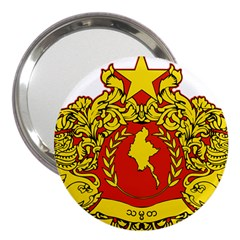 State Seal Of Myanmar 3  Handbag Mirrors by abbeyz71