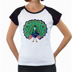 Burma Green Peacock National Symbol  Women s Cap Sleeve T by abbeyz71