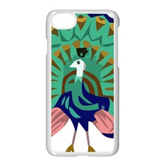 Burma Green Peacock National Symbol  Apple Iphone 7 Seamless Case (white) by abbeyz71