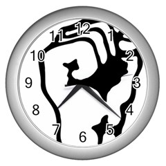 Skeleton Right Hand Fist Raised Fist Clip Art Hand 00wekk Clipart Wall Clocks (silver)  by Foxymomma