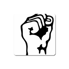 Skeleton Right Hand Fist Raised Fist Clip Art Hand 00wekk Clipart Square Magnet by Foxymomma