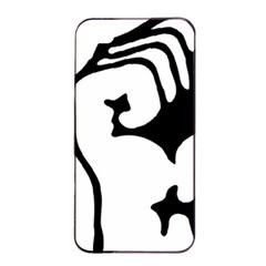 Skeleton Right Hand Fist Raised Fist Clip Art Hand 00wekk Clipart Apple Iphone 4/4s Seamless Case (black) by Foxymomma