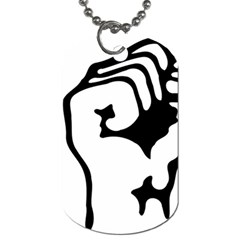 Skeleton Right Hand Fist Raised Fist Clip Art Hand 00wekk Clipart Dog Tag (two Sides) by Foxymomma