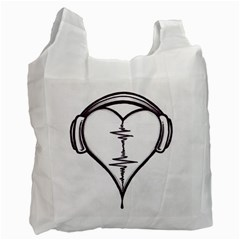 Audio Heart Tattoo Design By Pointofyou Heart Tattoo Designs Home R6jk1a Clipart Recycle Bag (two Side)  by Foxymomma
