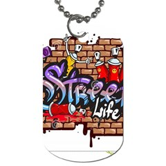 Graffiti Word Characters Composition Decorative Urban World Youth Street Life Art Spraycan Drippy Bl Dog Tag (two Sides) by Foxymomma