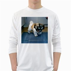 Coton Puppy 2 White Long Sleeve T Shirts by TailWags