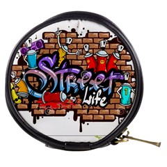 Graffiti Word Characters Composition Decorative Urban World Youth Street Life Art Spraycan Drippy Bl Mini Makeup Bags by Foxymomma