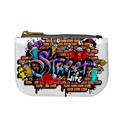 Graffiti Word Characters Composition Decorative Urban World Youth Street Life Art Spraycan Drippy Bl Mini Coin Purses by Foxymomma