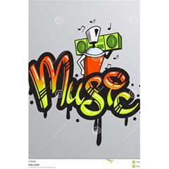 Graffiti Word Character Print Spray Can Element Player Music Notes Drippy Font Text Sample Grunge Ve 5 5  X 8 5  Notebooks by Foxymomma