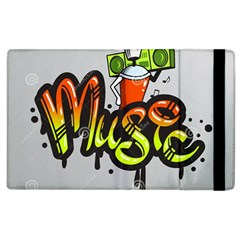 Graffiti Word Character Print Spray Can Element Player Music Notes Drippy Font Text Sample Grunge Ve Apple Ipad 3/4 Flip Case by Foxymomma