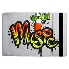 Graffiti Word Character Print Spray Can Element Player Music Notes Drippy Font Text Sample Grunge Ve Ipad Air Flip by Foxymomma