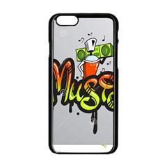 Graffiti Word Character Print Spray Can Element Player Music Notes Drippy Font Text Sample Grunge Ve Apple Iphone 6/6s Black Enamel Case by Foxymomma