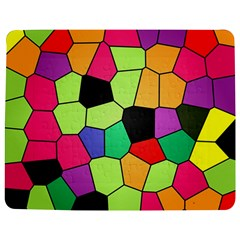 Stained Glass Abstract Background Jigsaw Puzzle Photo Stand (rectangular) by Nexatart