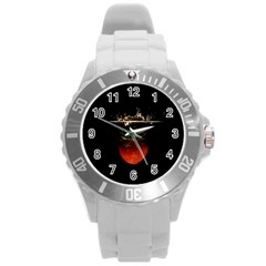Strawberry Round Plastic Sport Watch (l) by Nexatart