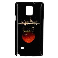 Strawberry Samsung Galaxy Note 4 Case (black) by Nexatart