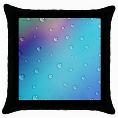 Water Droplets Throw Pillow Case (black) by Nexatart