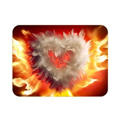 Arts Fire Valentines Day Heart Love Flames Heart Double Sided Flano Blanket (mini)  by Nexatart