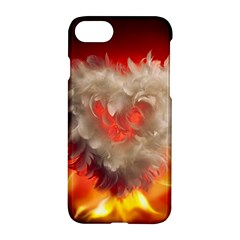 Arts Fire Valentines Day Heart Love Flames Heart Apple Iphone 7 Hardshell Case by Nexatart