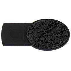 Black Rectangle Wallpaper Grey Usb Flash Drive Oval (4 Gb) by Nexatart