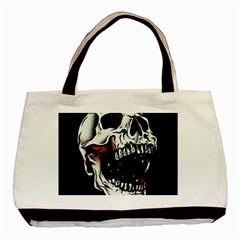 Death Skull Basic Tote Bag by Nexatart